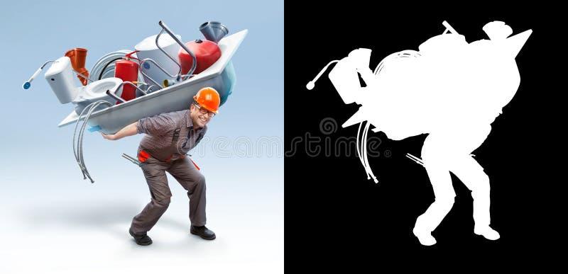Μπανιέρα εκμετάλλευσης εργαζομένων (με τη μάσκα) στοκ φωτογραφίες