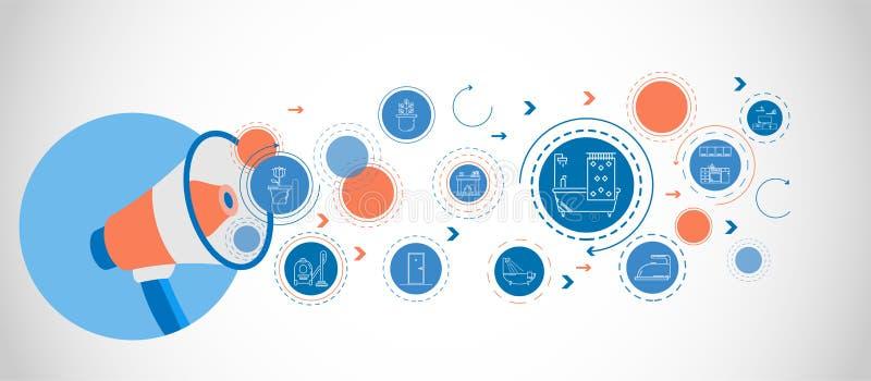 μπανιέρα με το εικονίδιο κουρτινών ντους Από το οικιακό σύνολο απεικόνιση αποθεμάτων