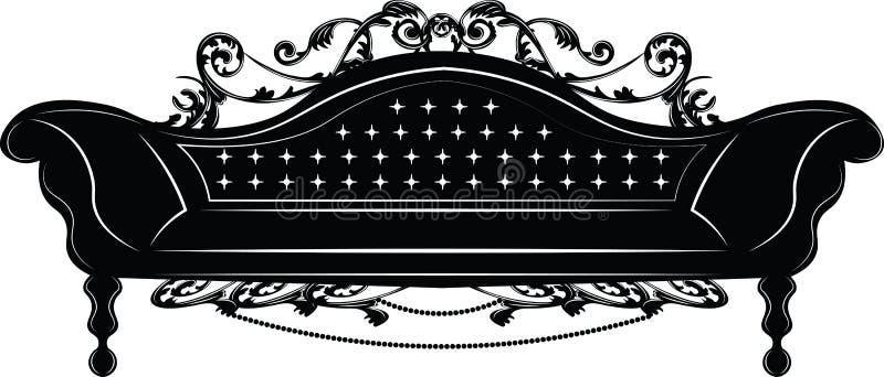 Μπαρόκ αυτοκρατορικός καναπές ελεύθερη απεικόνιση δικαιώματος