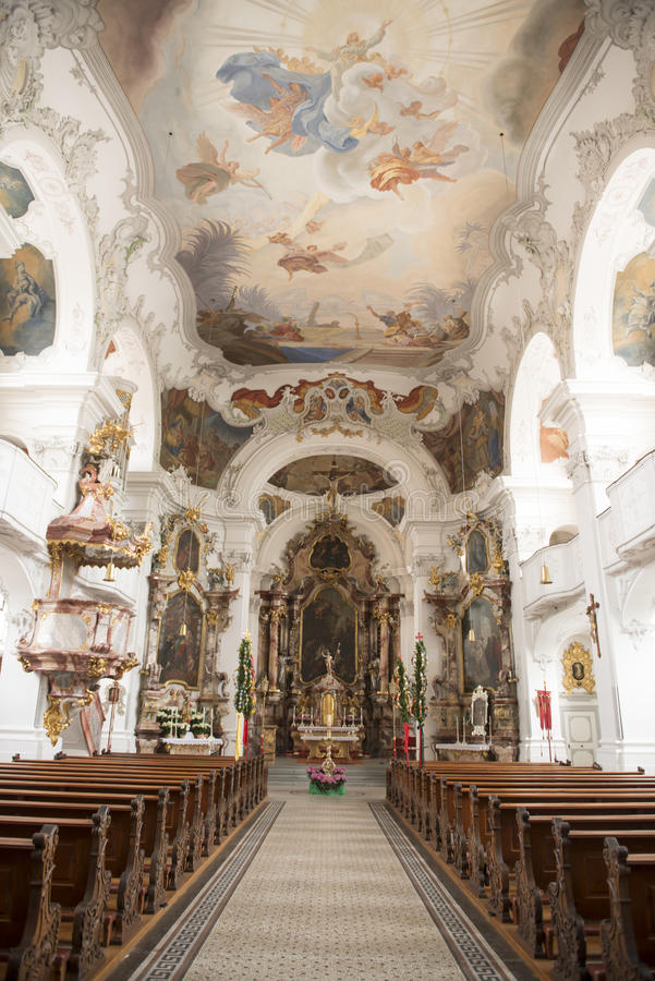 Μπαρόκ βαυαρική εκκλησία στοκ εικόνα με δικαίωμα ελεύθερης χρήσης