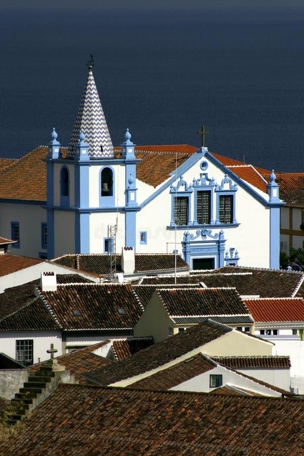 Μπαρόκ εκκλησία Terceira νησιών της Πορτογαλίας Αζόρες - Angra do Heroismo στοκ εικόνα με δικαίωμα ελεύθερης χρήσης