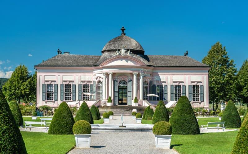 Μπαρόκ περίπτερο στον κήπο του αβαείου Melk, Αυστρία στοκ φωτογραφίες