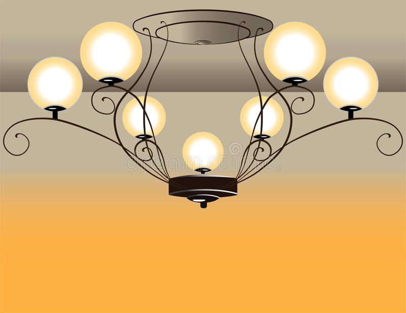Μπαρόκ πολυέλαιος διανυσματική απεικόνιση