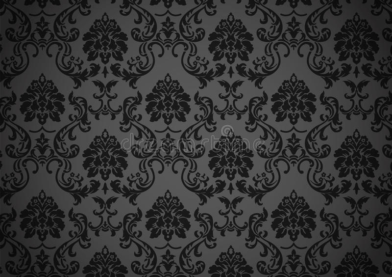μπαρόκ σκοτεινή ταπετσαρί&a απεικόνιση αποθεμάτων