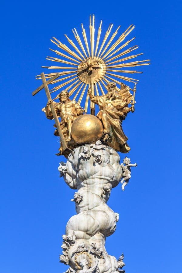 Μπαρόκ στήλη τριάδας στο Λιντς, Αυστρία στοκ εικόνα με δικαίωμα ελεύθερης χρήσης