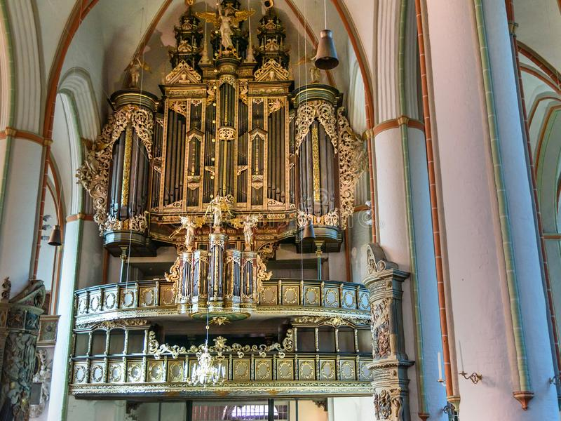 Μπαρόκ όργανο στην εκκλησία του John ο βαπτιστικός ή το Johanniskirche σε Luneburg r στοκ εικόνα με δικαίωμα ελεύθερης χρήσης