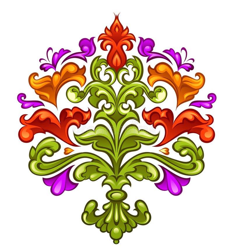 μπαρόκ floral απεικόνιση αποθεμάτων