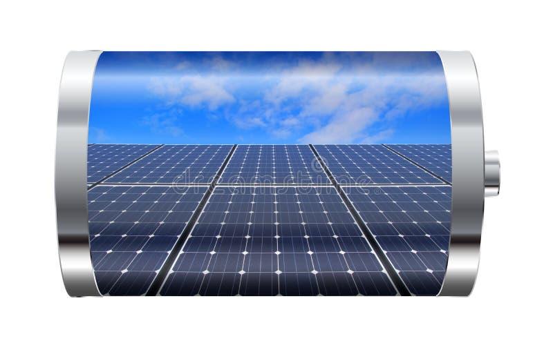 Μπαταρία ηλιακού πλαισίου απεικόνιση αποθεμάτων