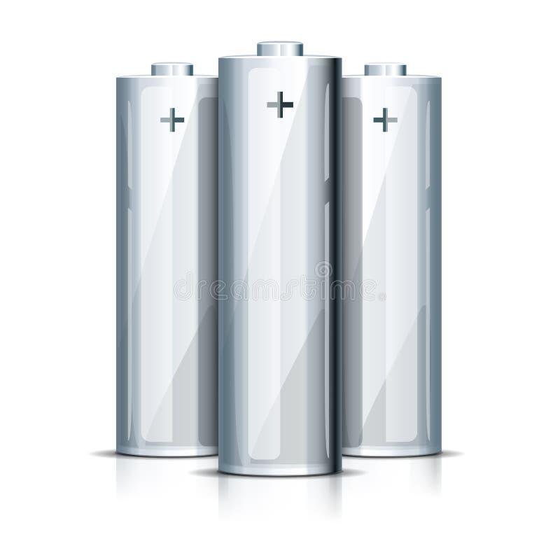 Μπαταρία AA που στέκεται στο λευκό απεικόνιση αποθεμάτων