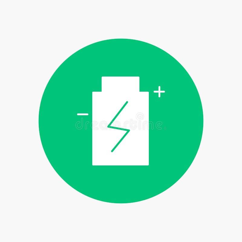 Μπαταρία, Eco, οικολογία, ενέργεια, περιβάλλον διανυσματική απεικόνιση