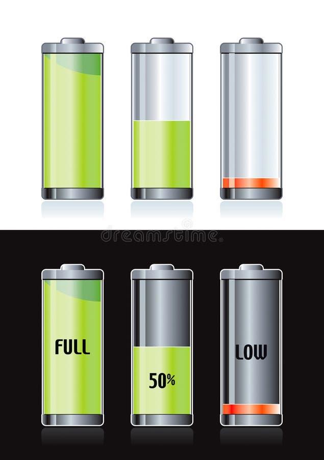 μπαταρίες επαναφορτιζόμ&epsilo διανυσματική απεικόνιση