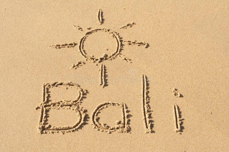 Μπαλί στην άμμο στοκ φωτογραφία