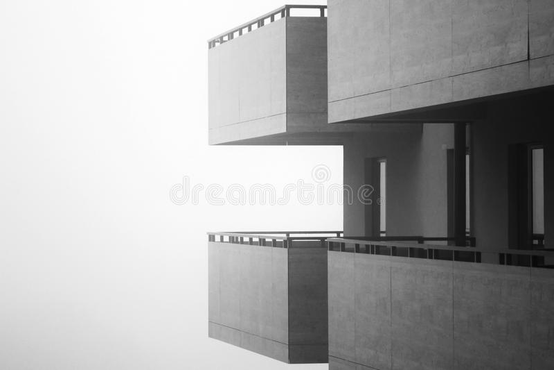 Μπαλκόνια στην υδρονέφωση στοκ φωτογραφίες με δικαίωμα ελεύθερης χρήσης