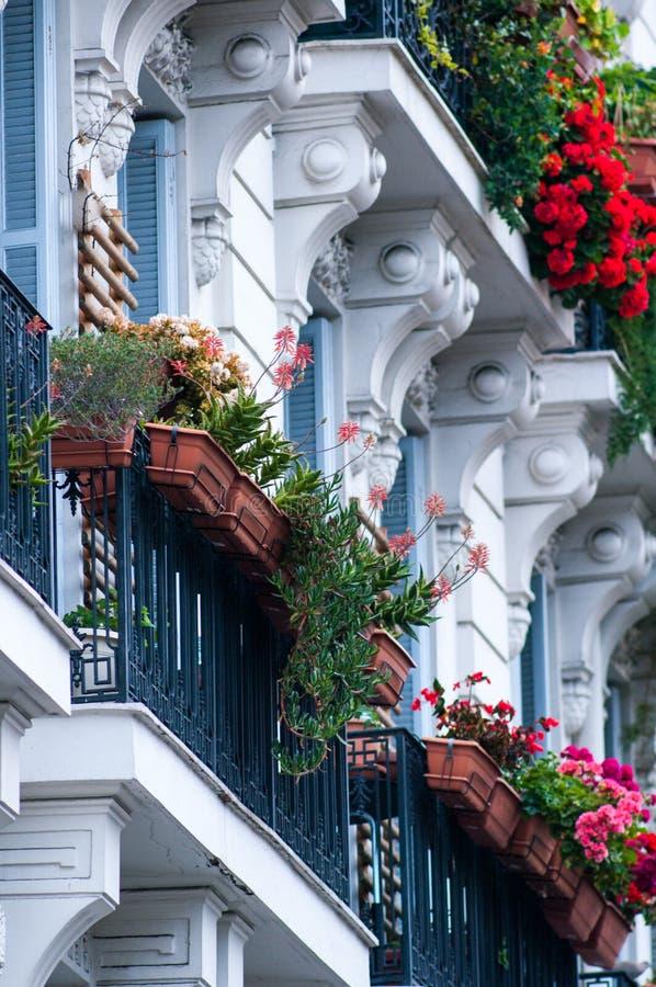 μπαλκόνι που ανθίζεται στοκ φωτογραφίες με δικαίωμα ελεύθερης χρήσης