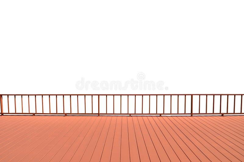 Μπαλκόνι που απομονώνεται στο άσπρο υπόβαθρο στοκ φωτογραφία