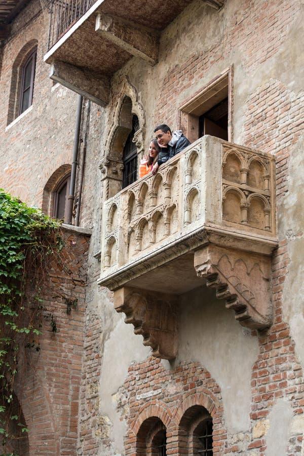 Μπαλκόνι της Juliet στη Βερόνα στοκ φωτογραφίες με δικαίωμα ελεύθερης χρήσης