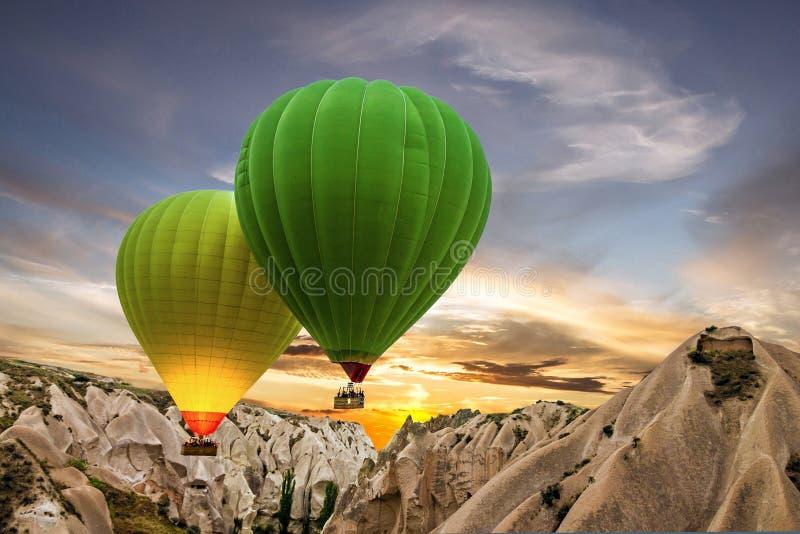 Μπαλόνια ζεστού αέρα, Cappadocia, Τουρκία στοκ φωτογραφία με δικαίωμα ελεύθερης χρήσης