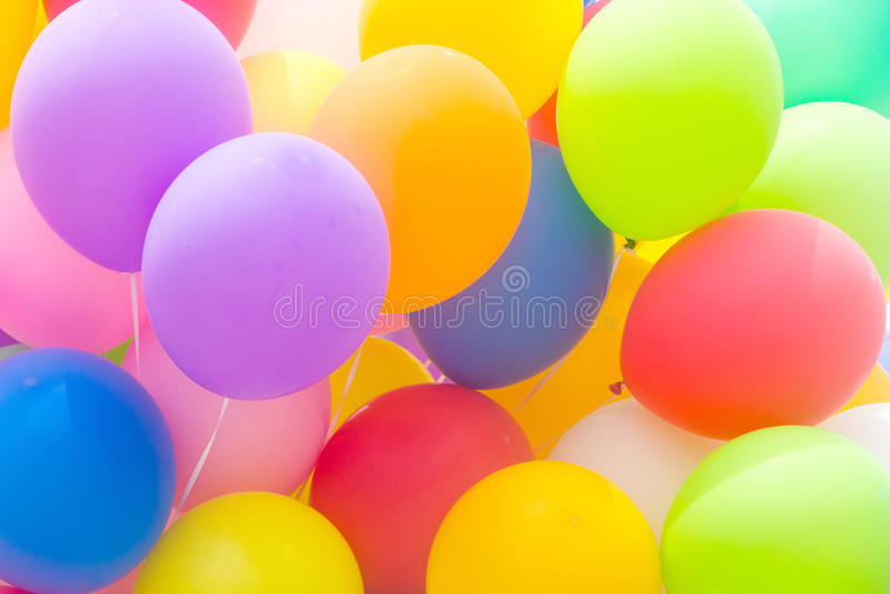 μπαλόνια ζωηρόχρωμα στοκ εικόνα με δικαίωμα ελεύθερης χρήσης