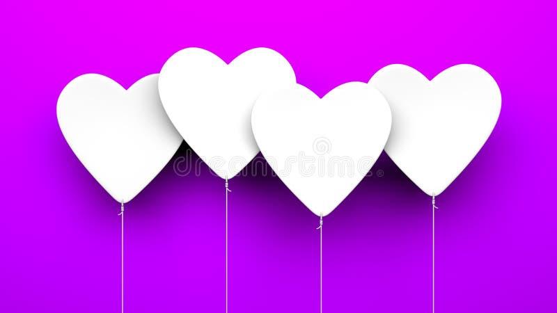 Μπαλόνια καρδιών στο μπλε υπόβαθρο ελεύθερη απεικόνιση δικαιώματος