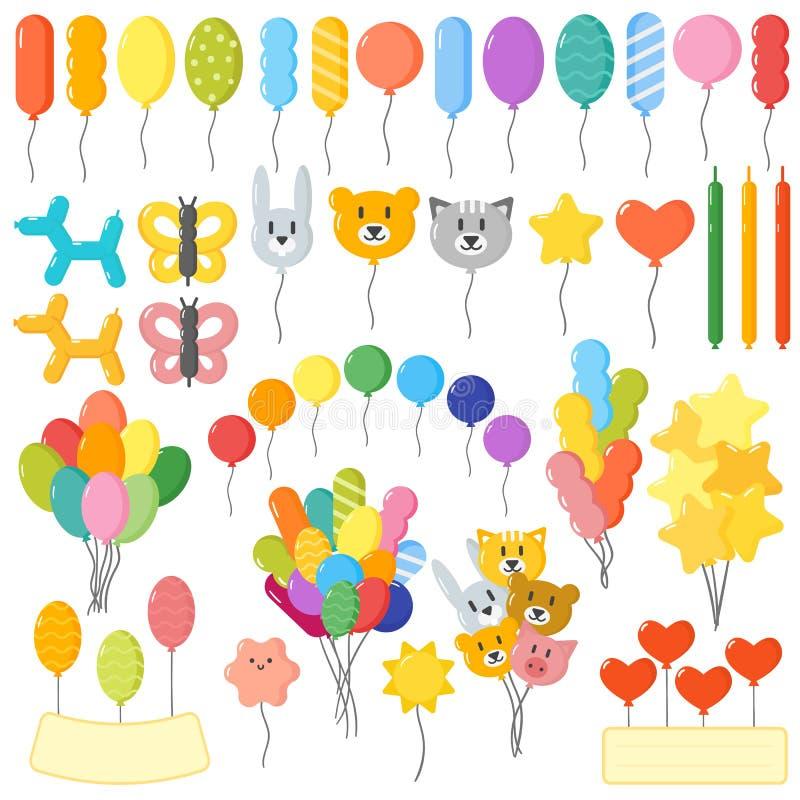 μπαλόνια που τίθενται απεικόνιση αποθεμάτων