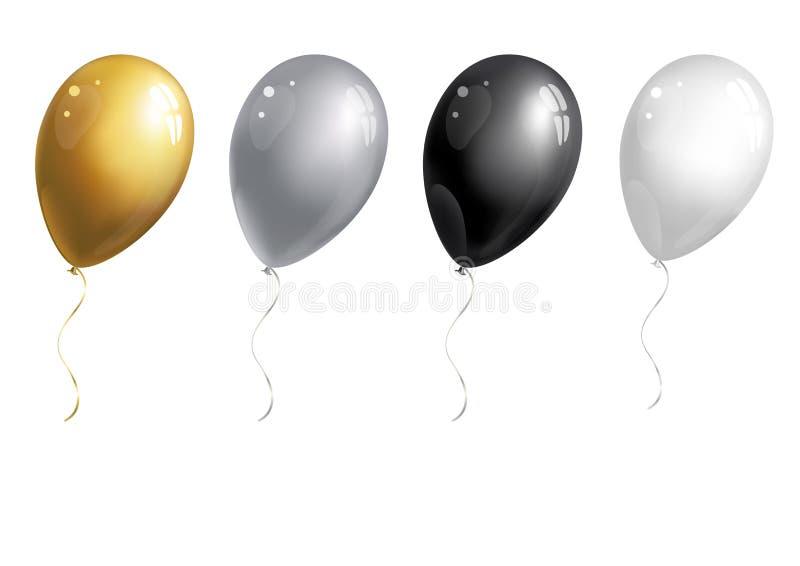 μπαλόνια που τίθενται ελεύθερη απεικόνιση δικαιώματος