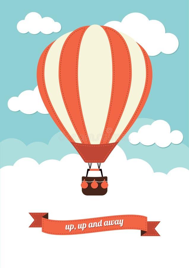 Μπαλόνι ζεστού αέρα ελεύθερη απεικόνιση δικαιώματος