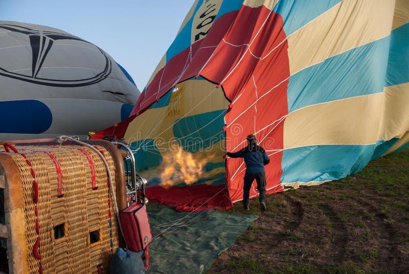 Μπαλόνι σε Cappadocia, Τουρκία Εκδοτική Εικόνες