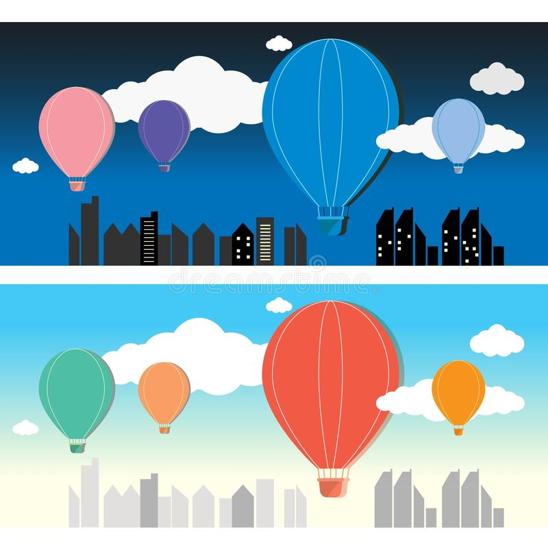 Μπαλόνι στο διάνυσμα ουρανού στοκ φωτογραφίες