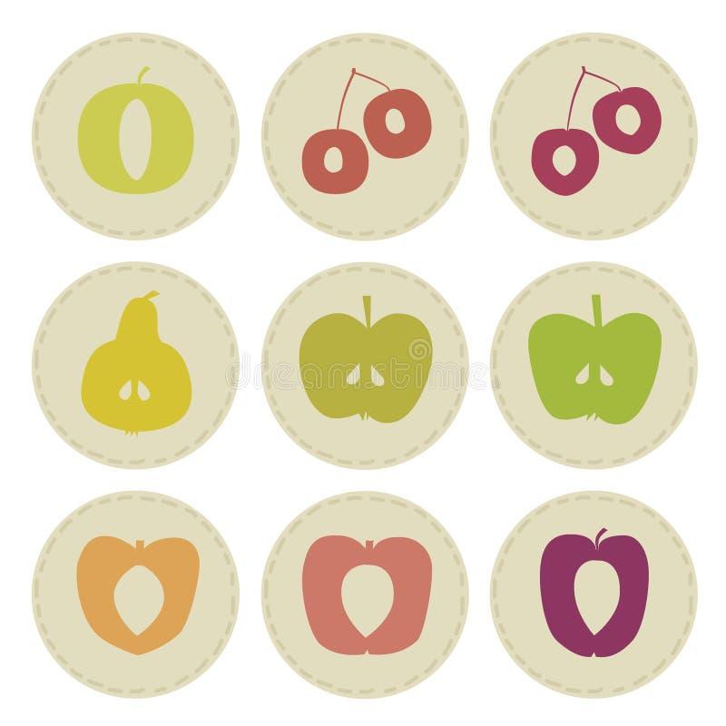 Μπαλώματα φρούτων ελεύθερη απεικόνιση δικαιώματος