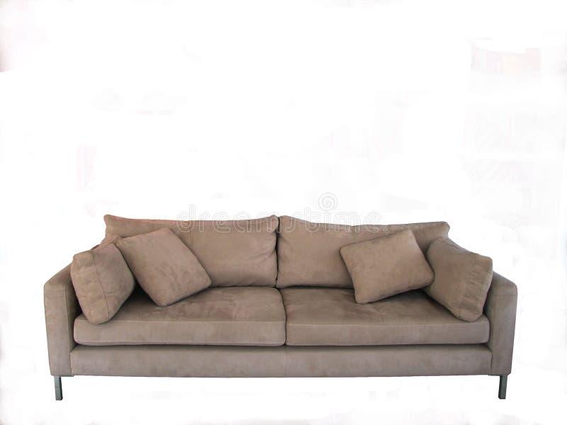 μπεζ άνετο σαλόνι στοκ φωτογραφία
