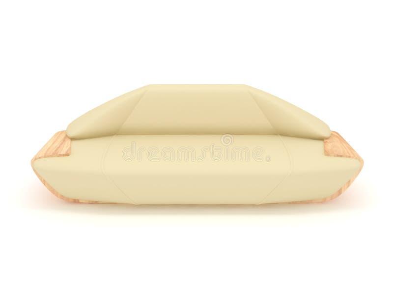 μπεζ καναπές περισσότερ&omicron στοκ εικόνα