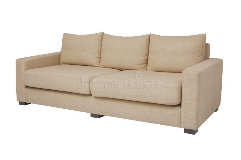 μπεζ λευκό βαθμού καναπέδ στοκ φωτογραφία με δικαίωμα ελεύθερης χρήσης