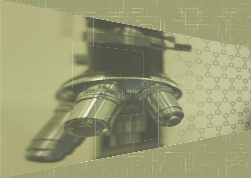 μπεζ μικροσκόπιο ανασκόπ&et στοκ φωτογραφία με δικαίωμα ελεύθερης χρήσης