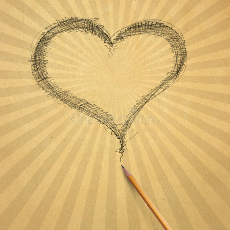 μπεζ παλαιό έγγραφο καρδ&iot ελεύθερη απεικόνιση δικαιώματος