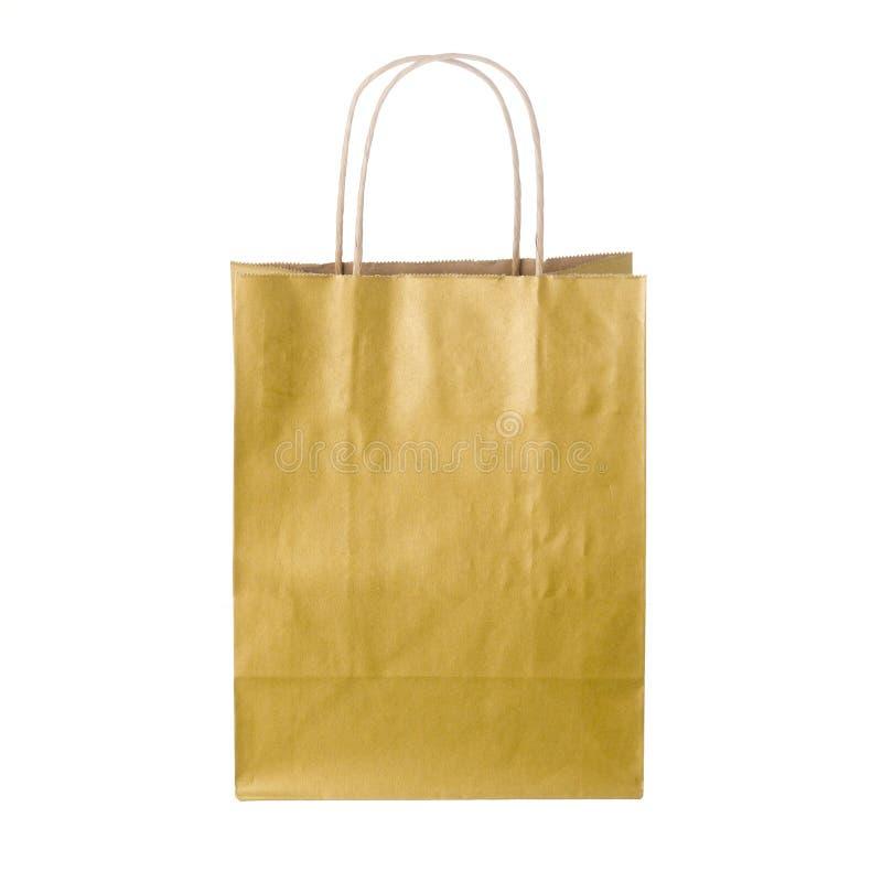 Μπεζ τσάντα αγορών στοκ εικόνες