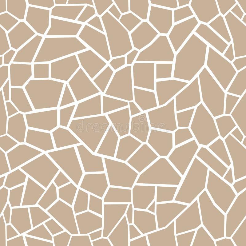 Μπεζ υπόβαθρο πετρών Άνευ ραφής tracery μωσαϊκών διανυσματική απεικόνιση