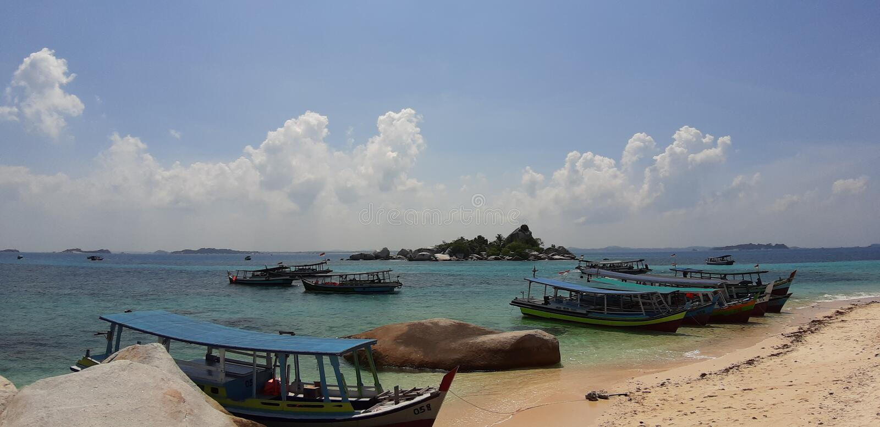 Μπελιτούνγκ Ινδονησίας στοκ εικόνες