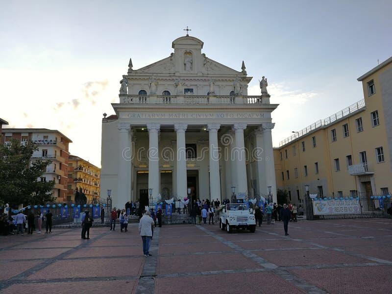 Μπενεβέντο - που περιμένει το Madonna delle Grazie στοκ εικόνες