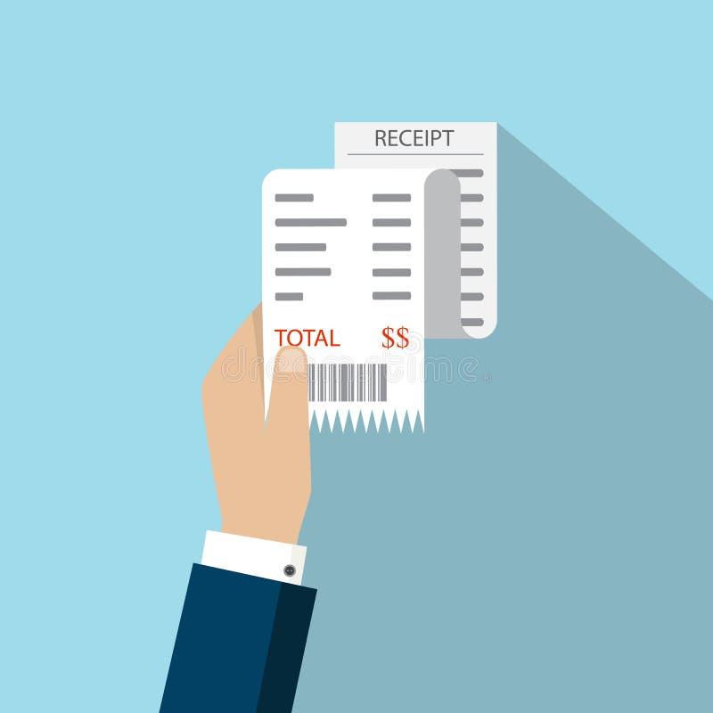 Μπιλ ATM, οικονομικός έλεγχος Εικονίδιο παραλαβών εγγράφου διάνυσμα Παραλαβή ι ελεύθερη απεικόνιση δικαιώματος