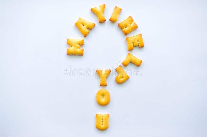 Μπισκότα αλφάβητου στοκ εικόνα