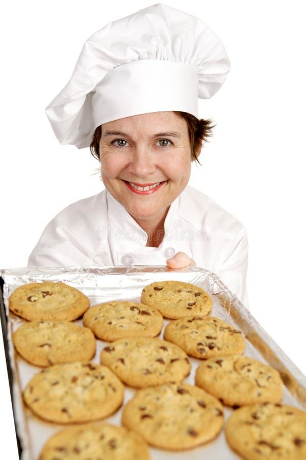μπισκότα αρχιμαγείρων ψησίματος στοκ εικόνες με δικαίωμα ελεύθερης χρήσης