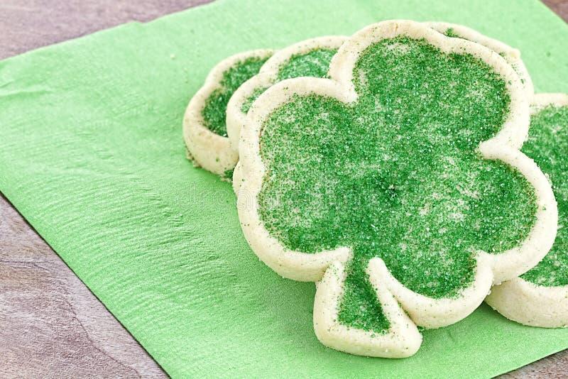 Μπισκότα ζάχαρης ημέρας του ST Πάτρικ στοκ φωτογραφίες
