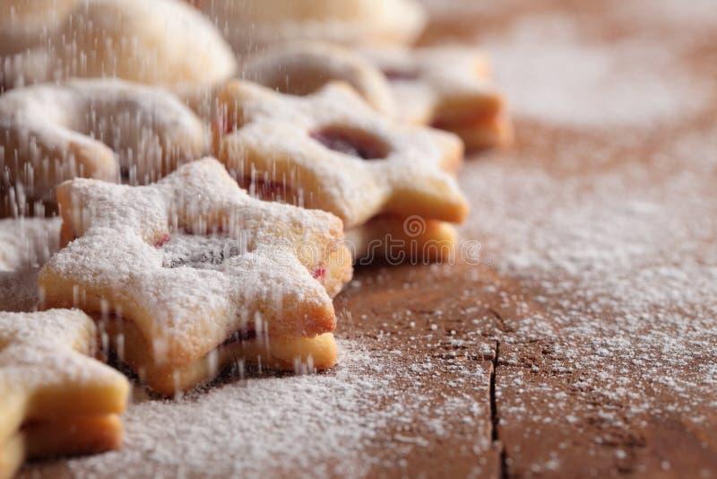Μπισκότα και ζάχαρη στοκ εικόνες