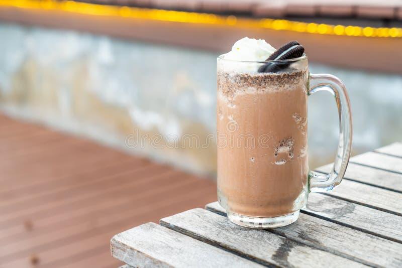 μπισκότα και σοκολάτα κρέμας milkshake στοκ εικόνες με δικαίωμα ελεύθερης χρήσης