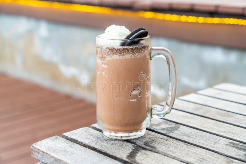 μπισκότα και σοκολάτα κρέμας milkshake στοκ φωτογραφίες με δικαίωμα ελεύθερης χρήσης
