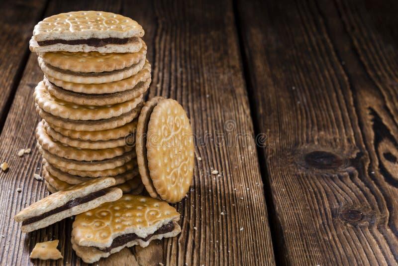 Μπισκότα κρέμας στοκ φωτογραφία με δικαίωμα ελεύθερης χρήσης