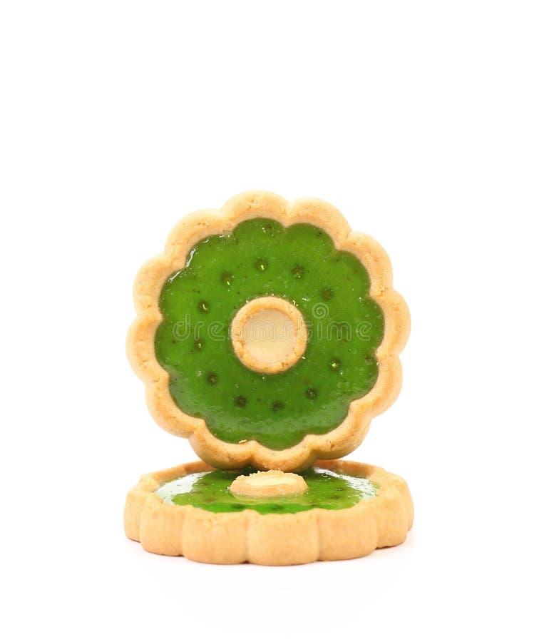 Μπισκότα με τη μαρμελάδα ακτινίδιων. στοκ εικόνες