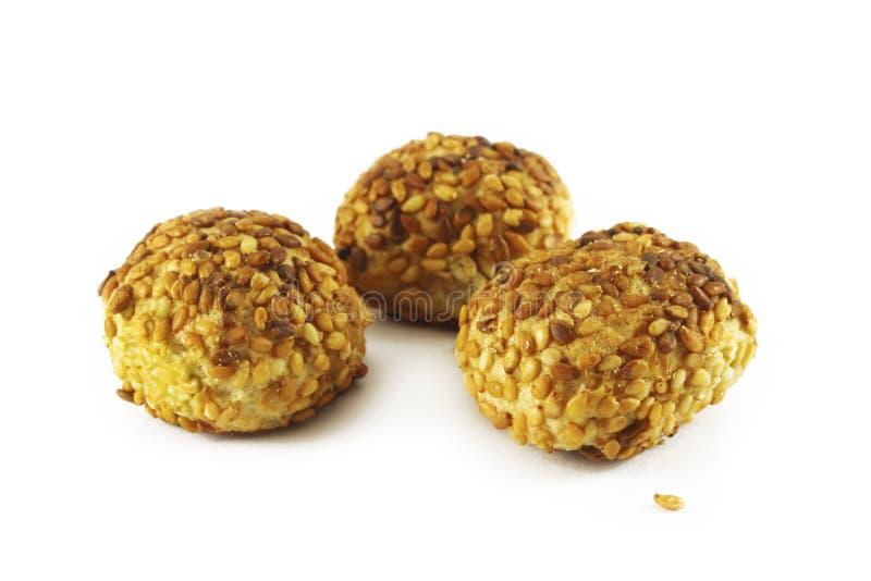 Μπισκότα με τους σπόρους σουσαμιού στοκ φωτογραφίες