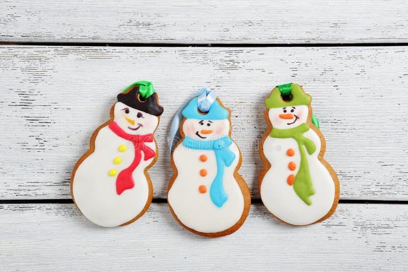 Μπισκότα πιπεροριζών για τα Χριστούγεννα στοκ εικόνες