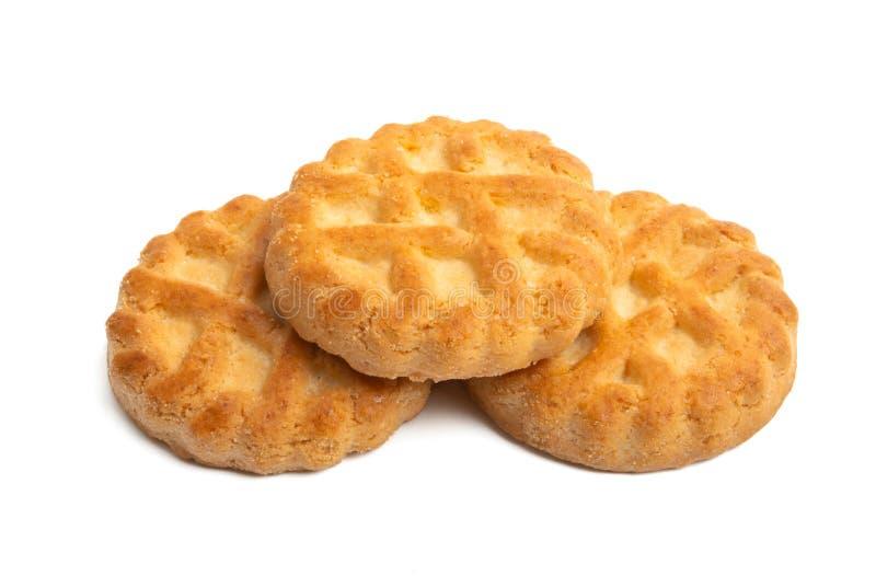 Μπισκότα που απομονώνονται βουτύρου στοκ εικόνα